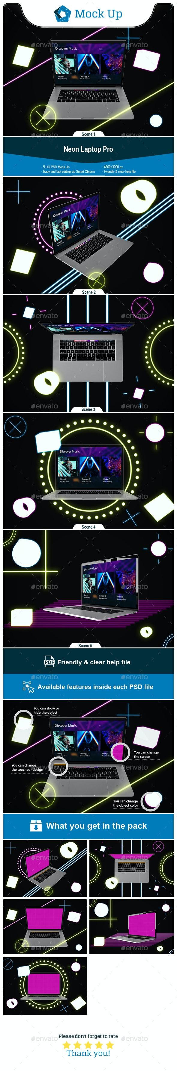 Neon MacBook Pro - Laptop Displays