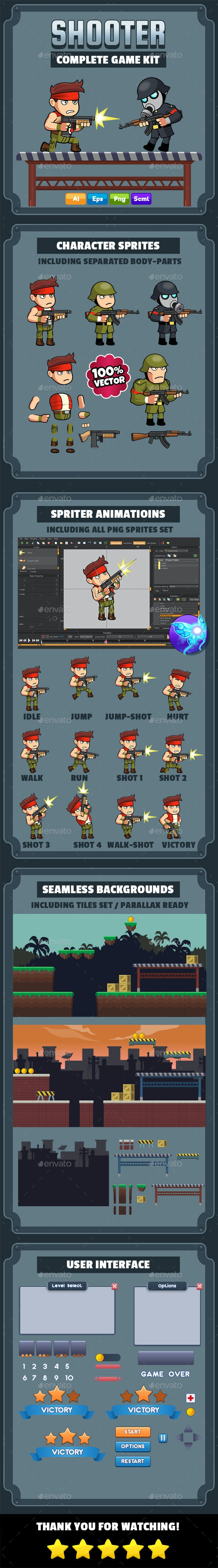 Shooter Complete Game Kit - Game Kits Game Assets