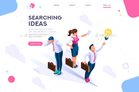 Header Search Idea Concept - People Characters