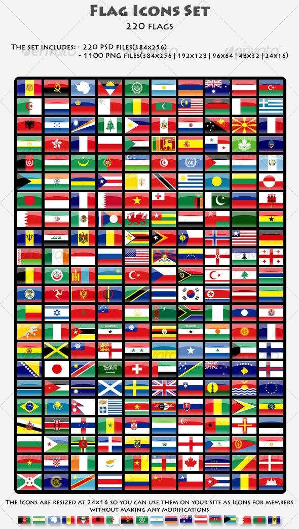 Web Flags Set - Web Icons
