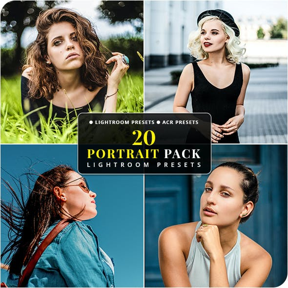 20 Portrait Pack Lightroom & Camera RAW Presets