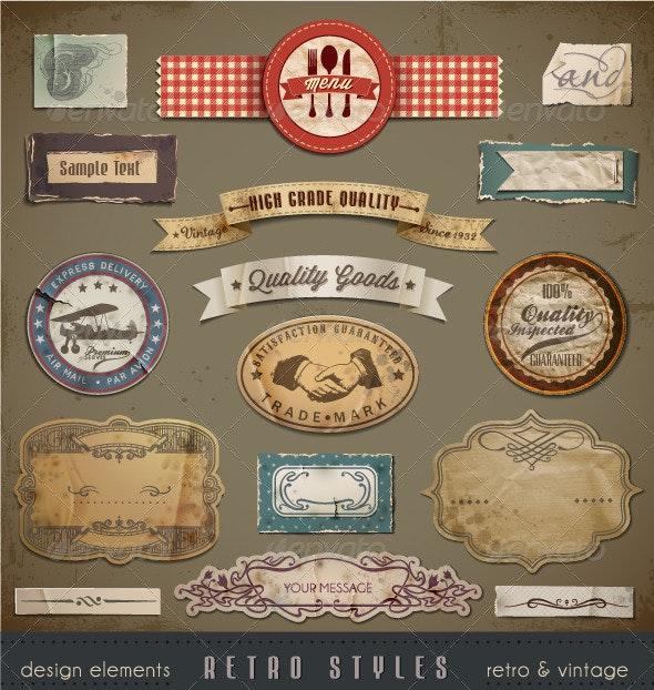 Vintage And Retro Design Elements - Retro Technology