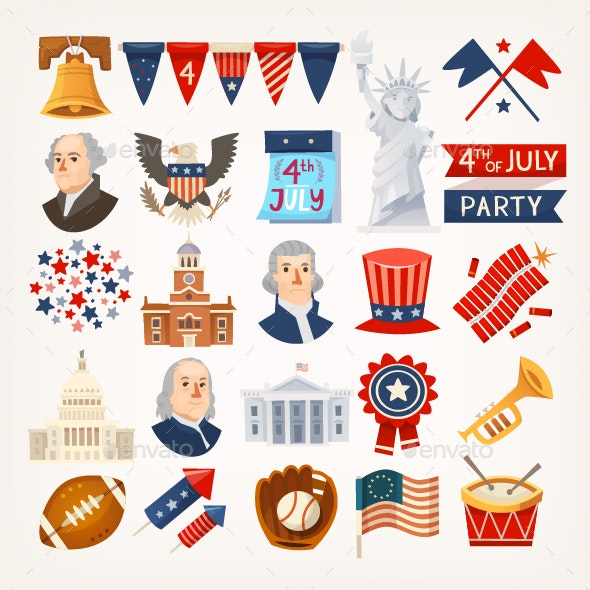Independence Day Icons - Miscellaneous Seasons/Holidays