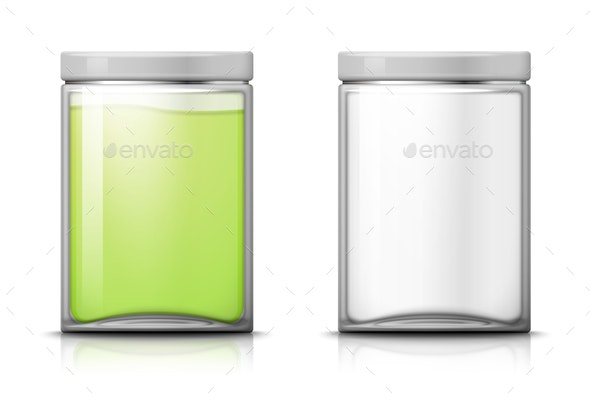 Vector Glass Jar - Man-made Objects Objects