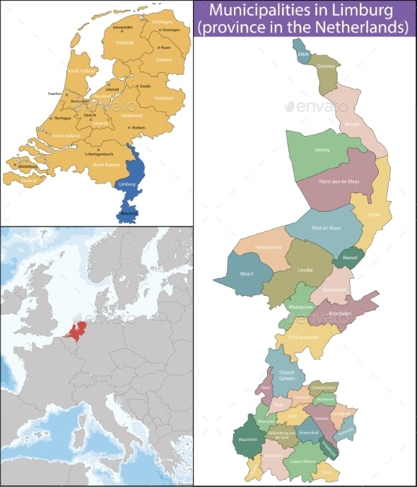 Limburg is a Province of the Netherlands - Miscellaneous Vectors