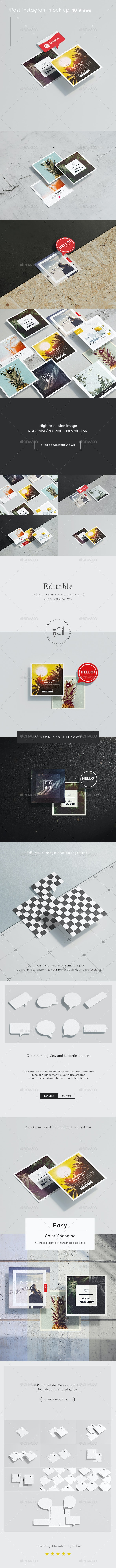 Post Instagram card mock up - Product Mock-Ups Graphics