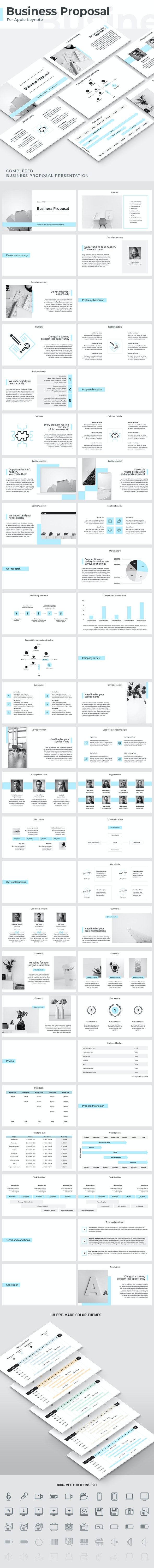 Business Proposal Keynote Template - Business Keynote Templates