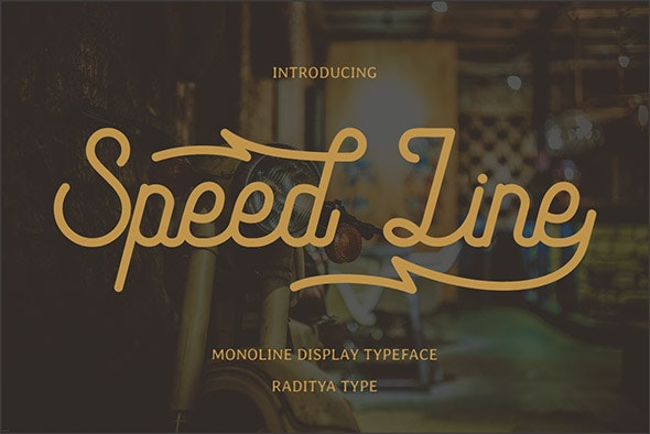 Speed Line - Handwriting Fonts