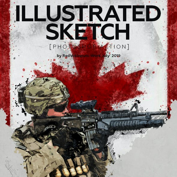 Illustrated Sketch Photoshop Action