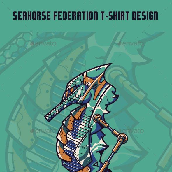 Seahorse Federation T-Shirt Design