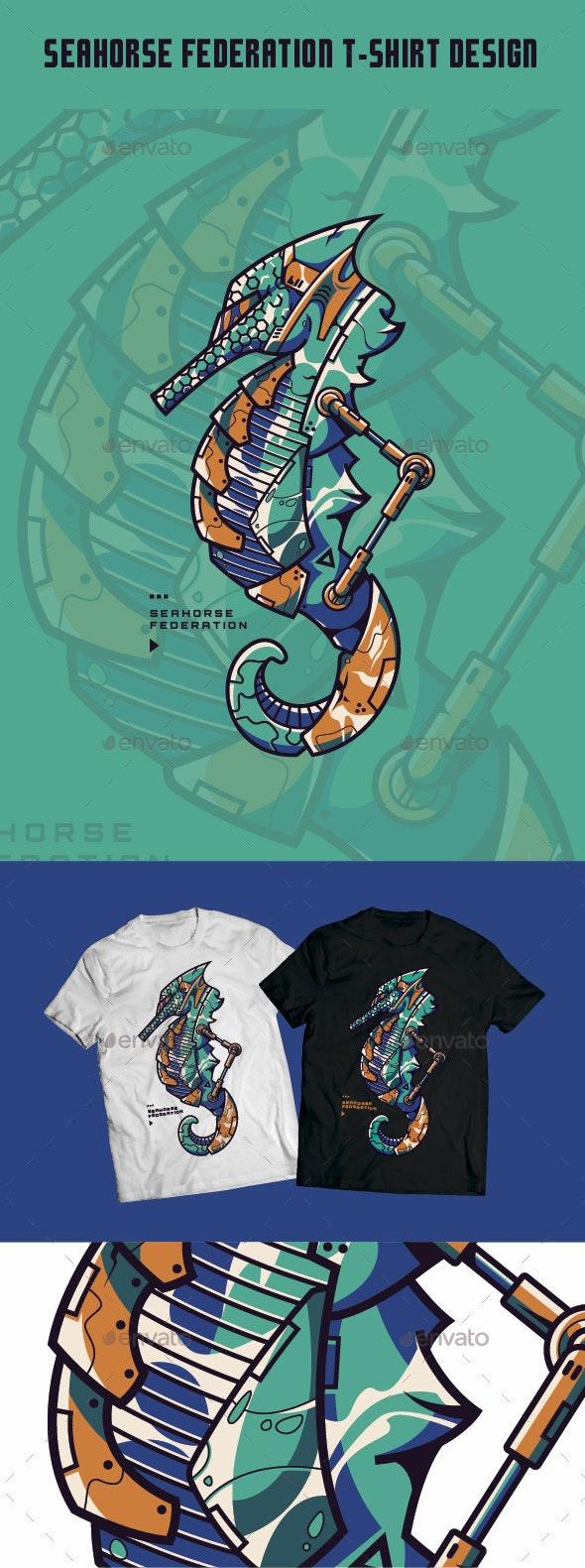 Seahorse Federation T-Shirt Design - T-Shirts