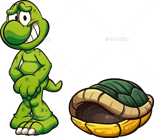Naked Cartoon Turtle By Memoangeles Graphicriver