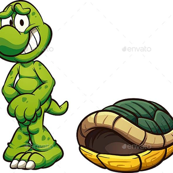 Naked Cartoon Turtle