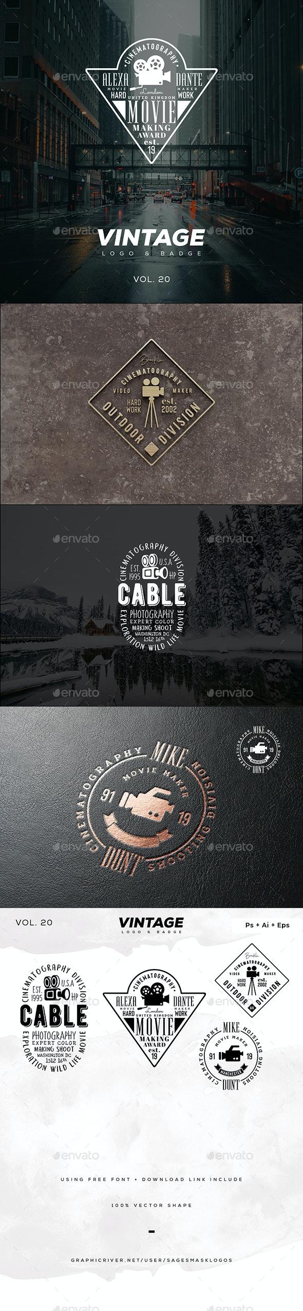 Vintage Logo & Badge Vol. 20 - Badges & Stickers Web Elements