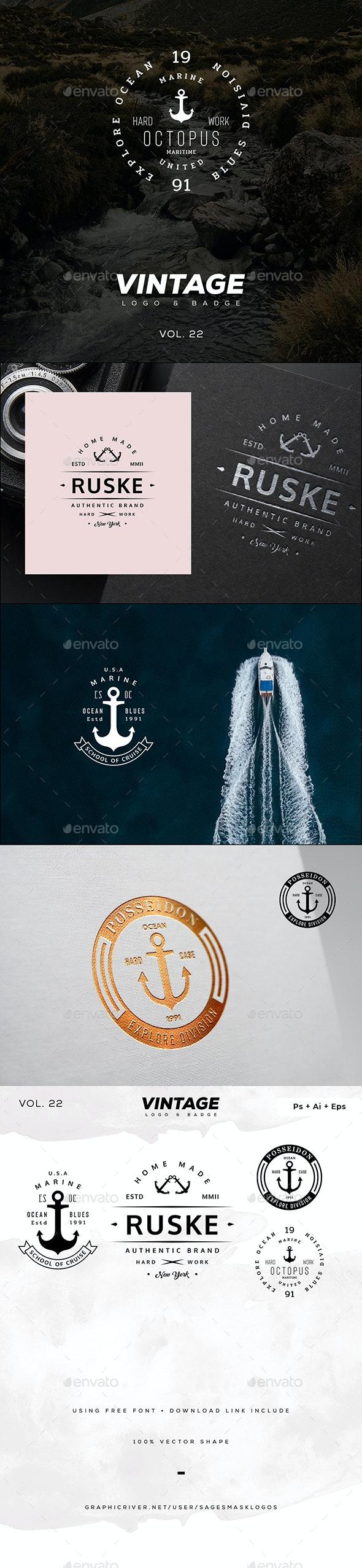 Vintage Logo & Badge Vol. 22 - Badges & Stickers Web Elements