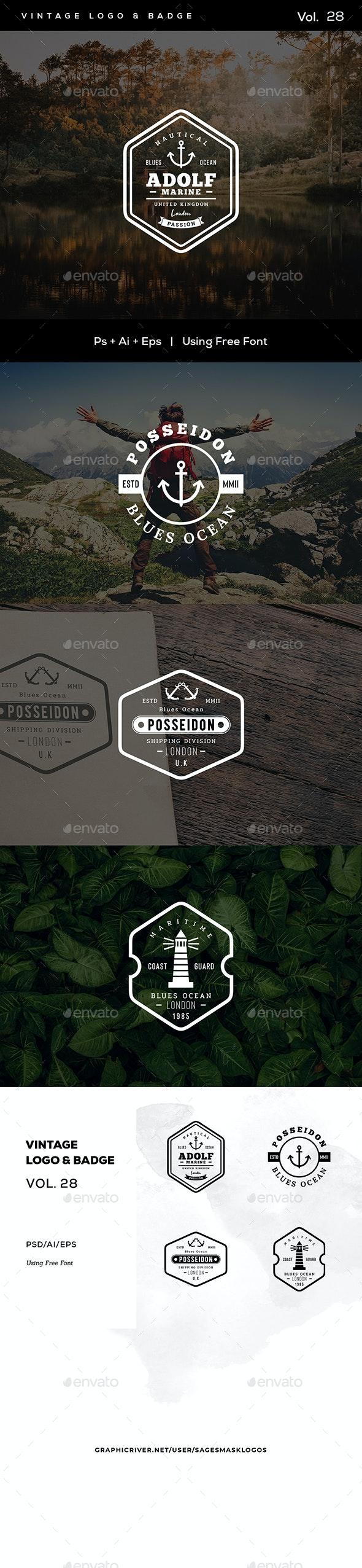 Vintage Logo & Badge Vol. 28 - Badges & Stickers Web Elements