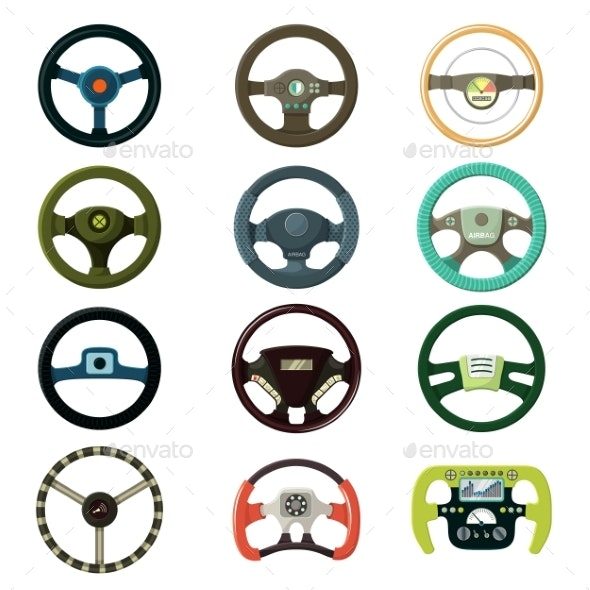 Steering Wheel Vector Car Driving Wheeling Control - Man-made Objects Objects