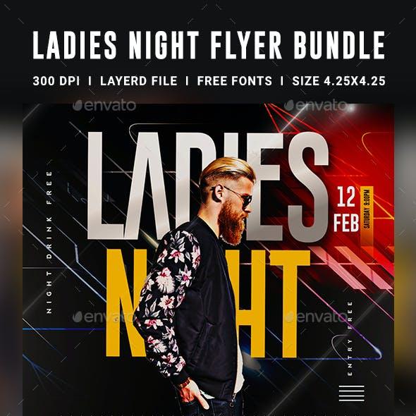 Ladies Night Flyer Bundle