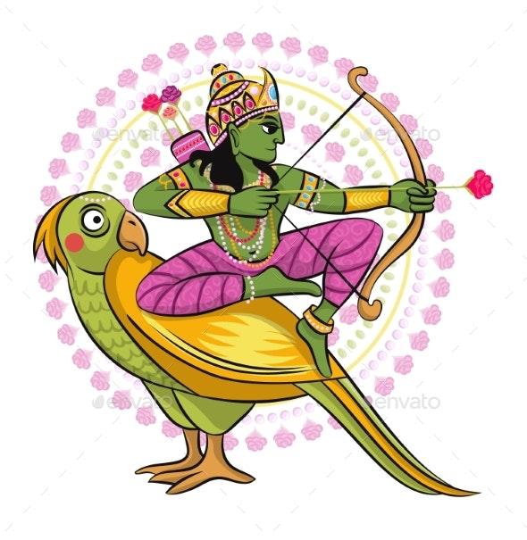 Indian God Vector Hinduism - Religion Conceptual