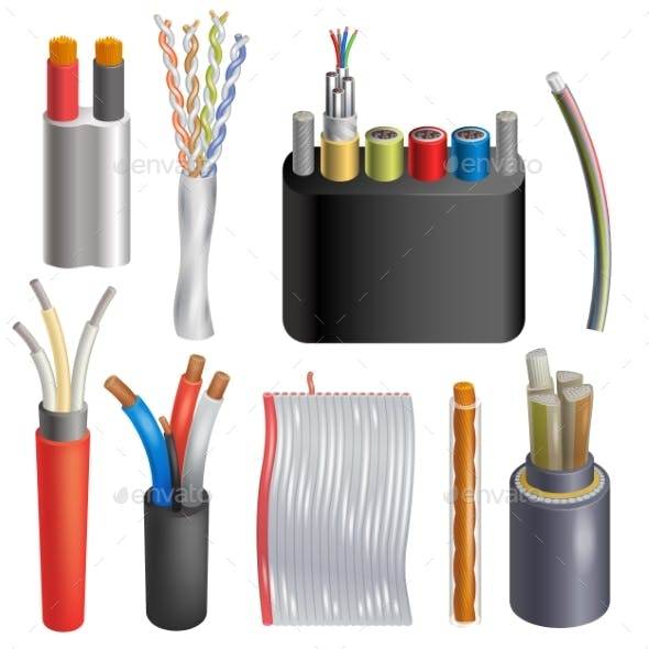 Cable Vector Cabled Wire Connection Technology