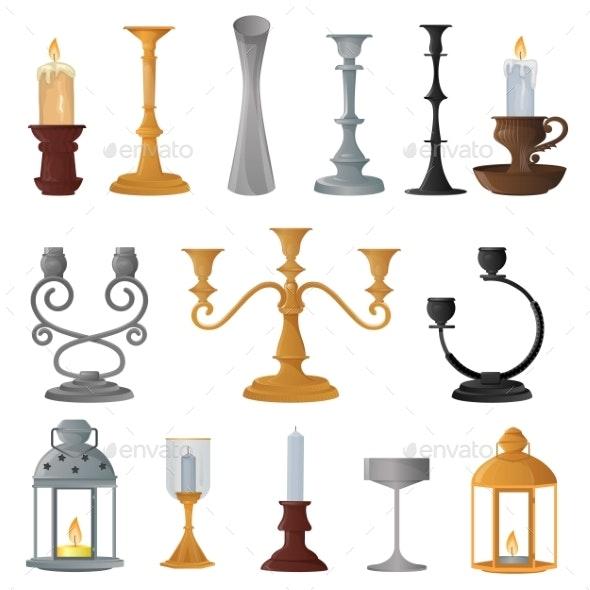 Candlestick Vector Candle Lantern Vintage - Miscellaneous Vectors