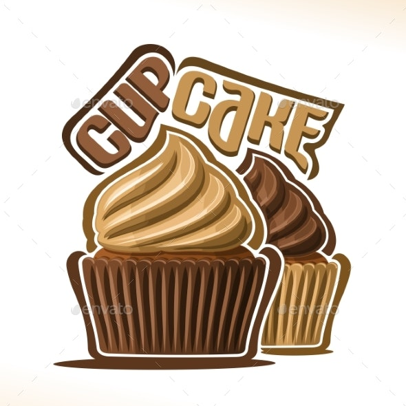 Vector Logo for Cupcake - Food Objects