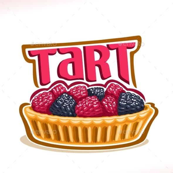 Vector Logo for Tart Dessert - Food Objects