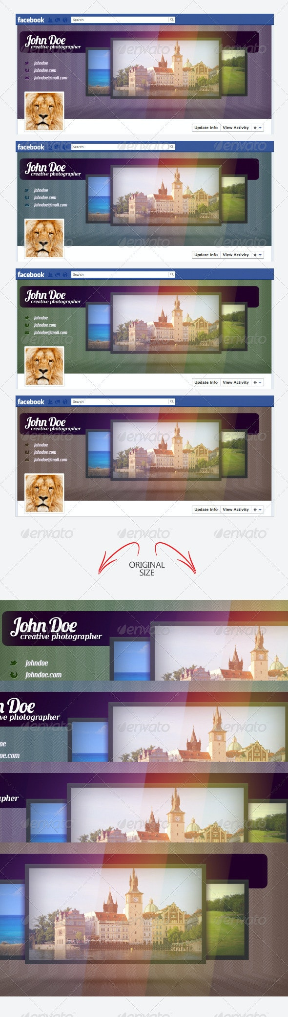 Creative Facebook timeline cover - Social Media Web Elements