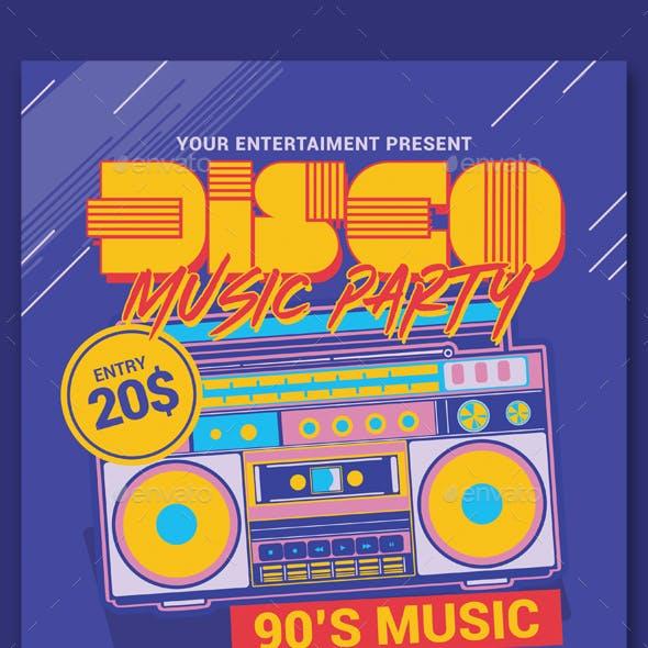 Disco Retro Music Party