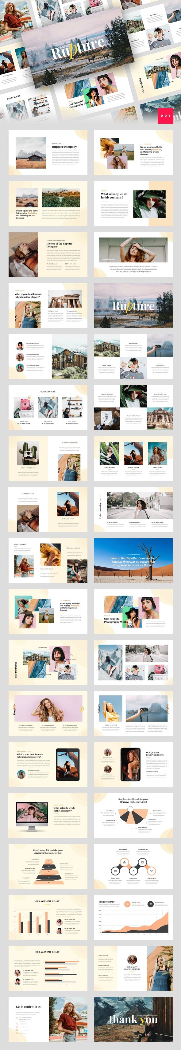 Rupture - Folk Style Agency PowerPoint Template - Creative PowerPoint Templates