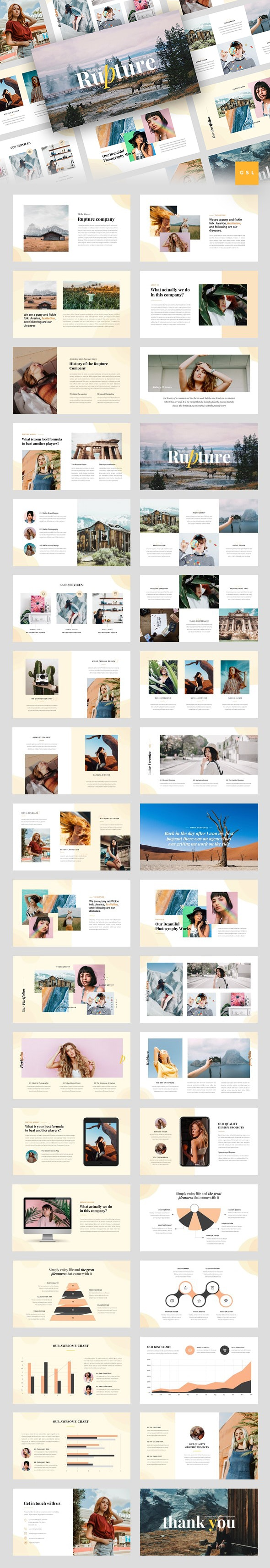 Rupture - Folk Style Agency Google Slides Template - Google Slides Presentation Templates