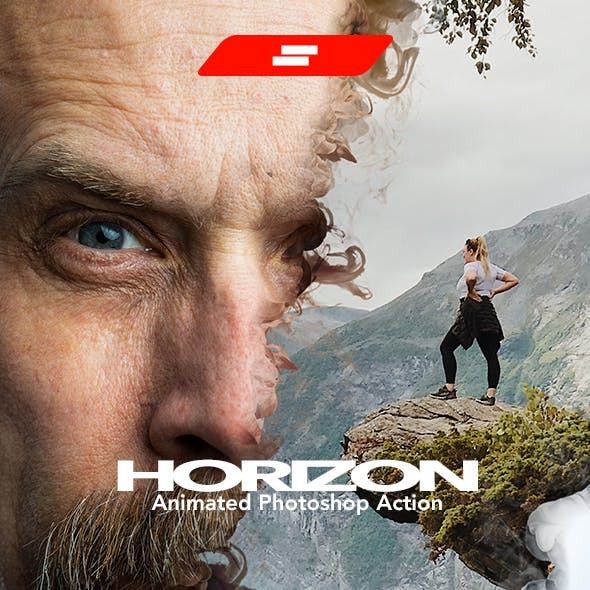 Gif Animated Horizon Photoshop Action