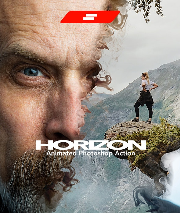 Gif Animated Horizon Photoshop Action - Photo Effects Actions