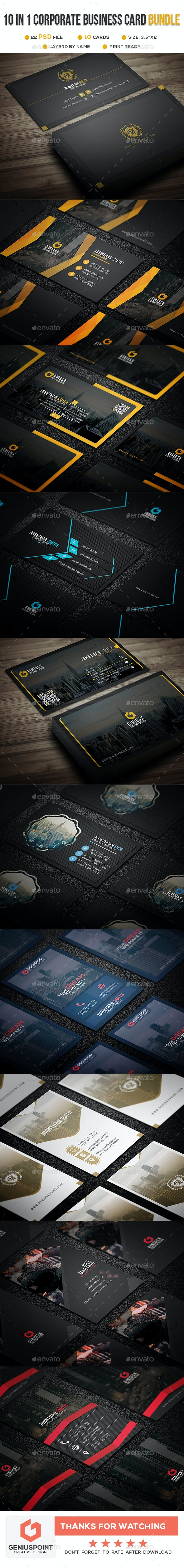 Big Bundle Vol: 07 - Business Cards Print Templates