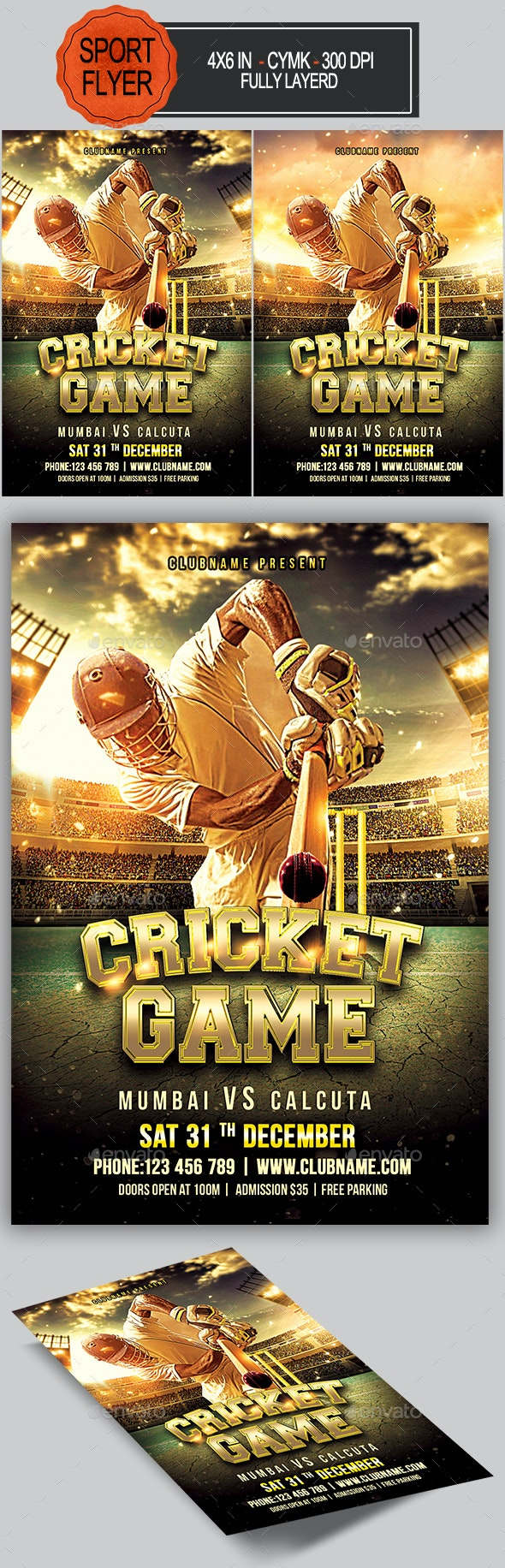 Cricket Flyer - Sports Events