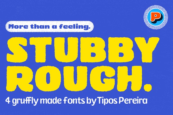 Stubby Rough Fonts - Hand-writing Script