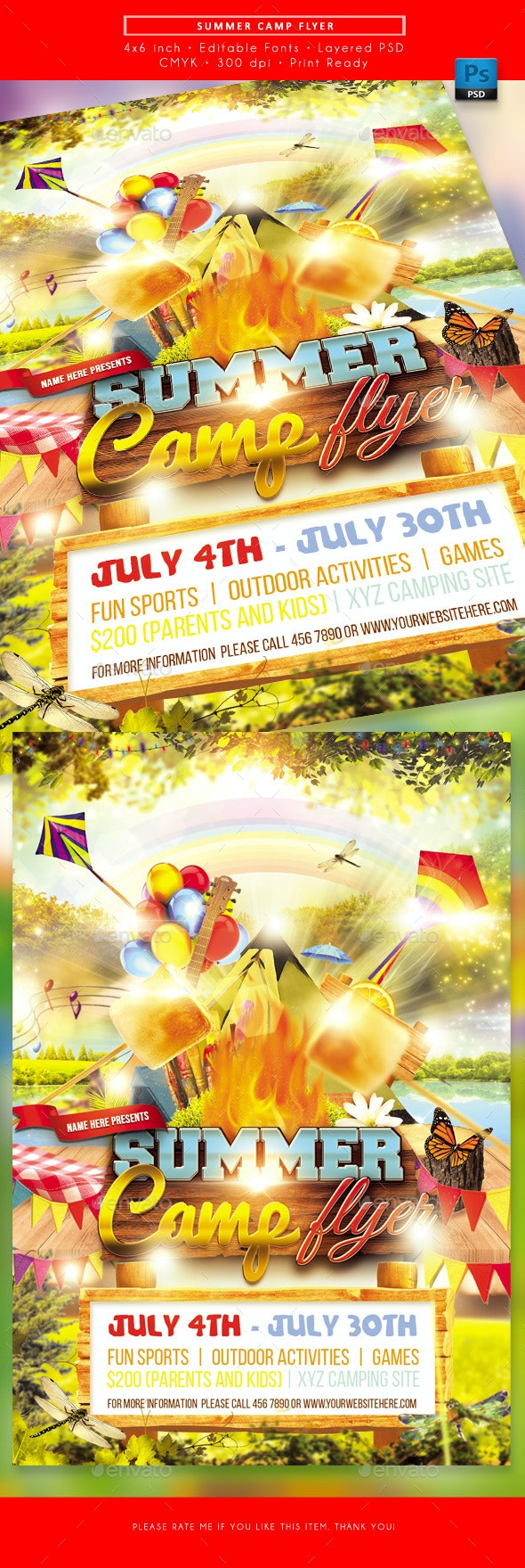 Summer Camp Flyer - Miscellaneous Events