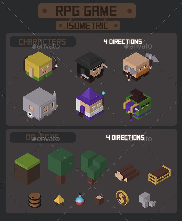 RPG Game Isometric - Miscellaneous Game Assets
