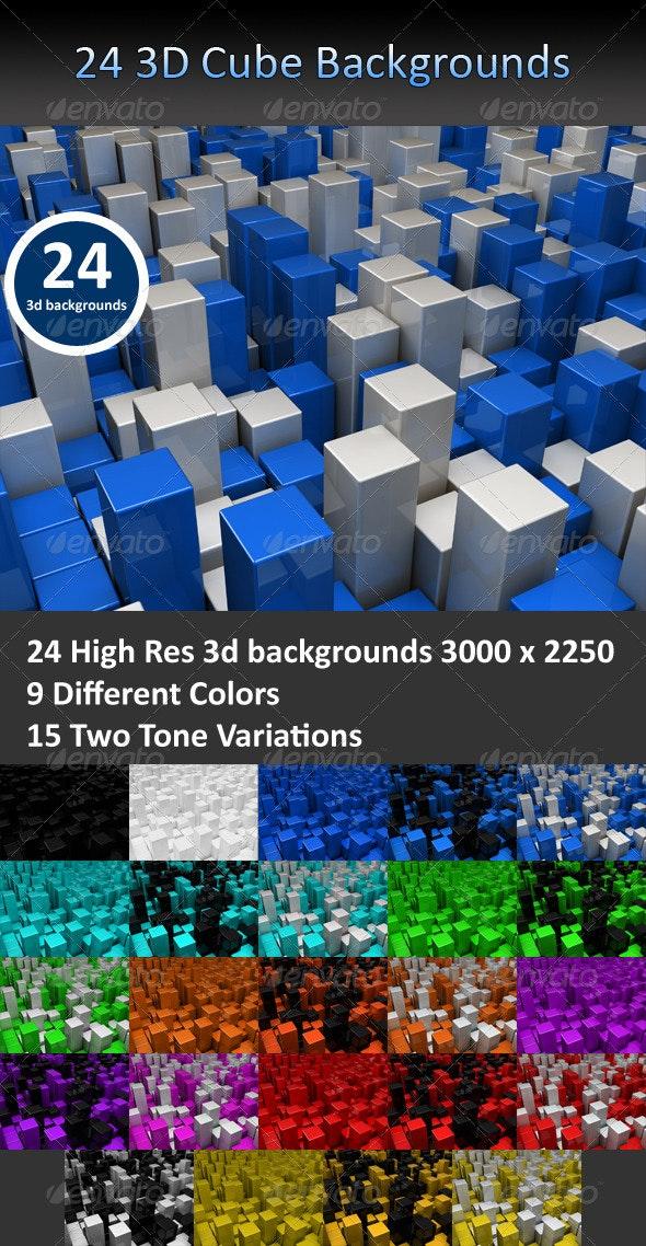Cube 3D Backgrounds - 3D Backgrounds