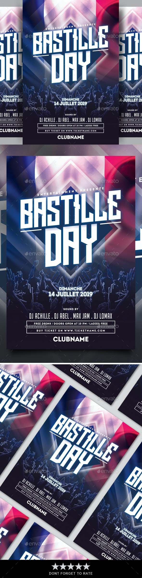 Bastille Day Flyer - Events Flyers
