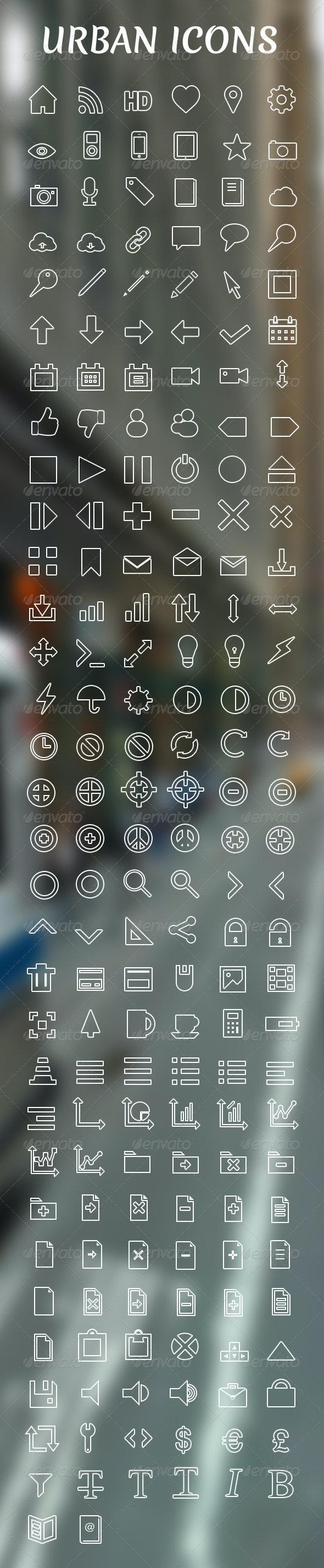Urban Icon Set - 188 Vector Icons - Web Icons