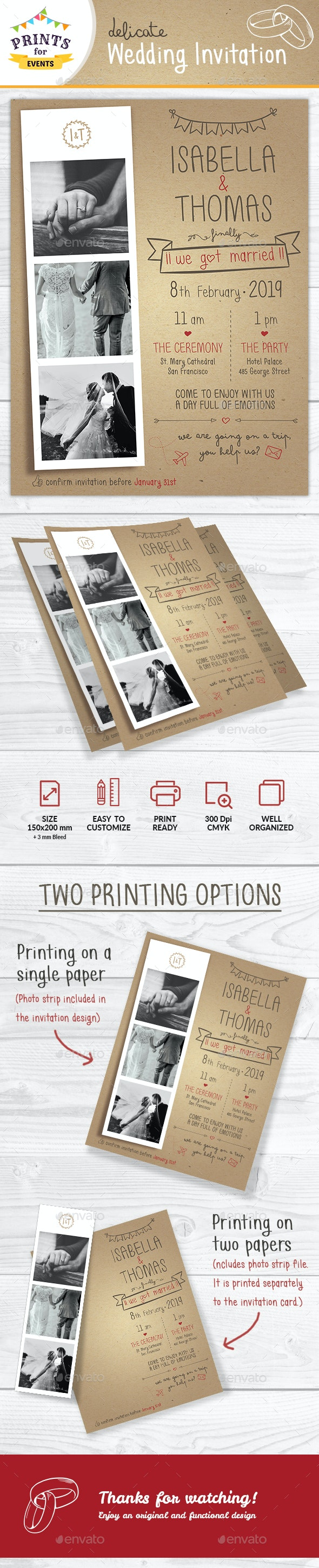 Delicate Wedding Invitation - Weddings Cards & Invites