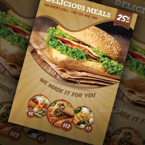 Restaurant Food Flyer