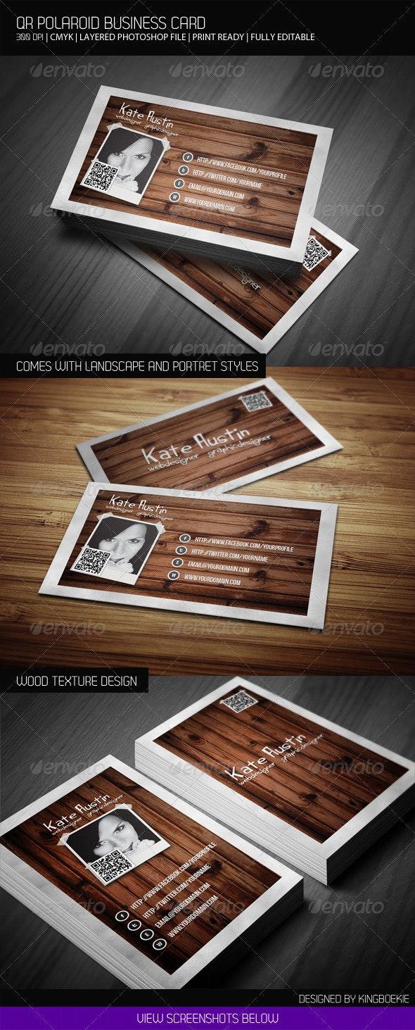 QR Polaroid Business Card - Creative Business Cards