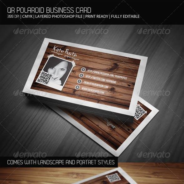 QR Polaroid Business Card