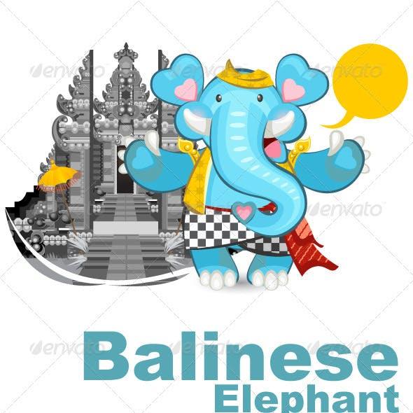 Balinese Ganesha Blue Elephant