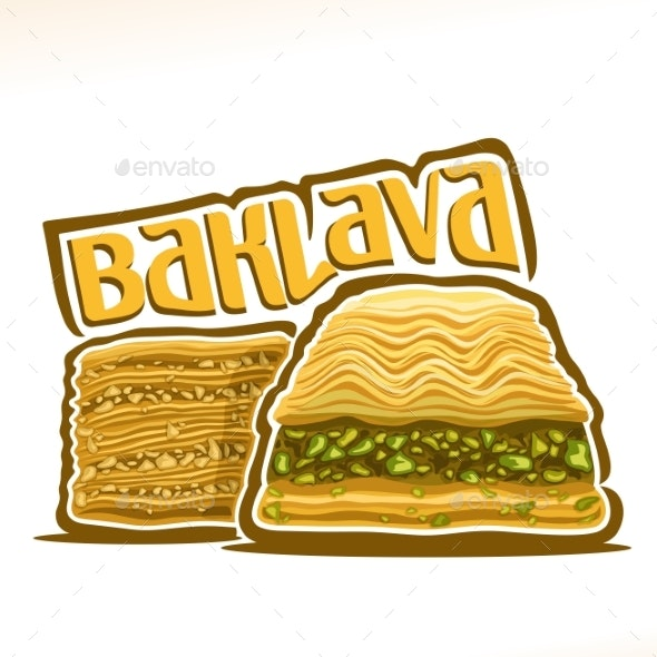 Vector Logo for Baklava - Food Objects