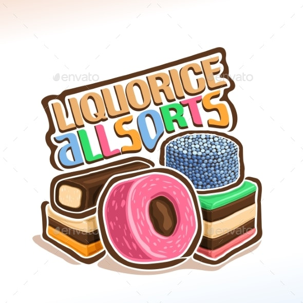 Vector Logo for Liquorice Allsorts - Food Objects