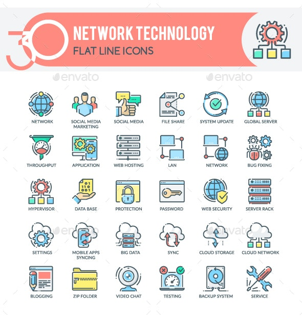 Network Icons - Technology Icons