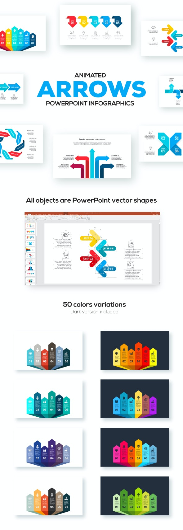 Arrows Animated Infographics Presentations - Abstract PowerPoint Templates